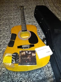 Burswood Acoustic Guitar with Case (Firm on Price)