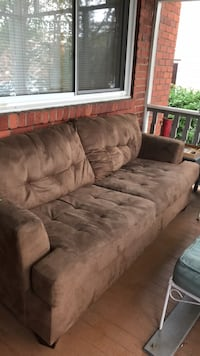 brown suede 3-seat sofa Alexandria, 22301