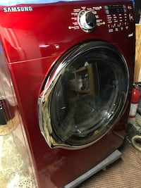 Red front-load clothes DRYER