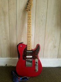 red and brown electric guitar Los Angeles, 90006