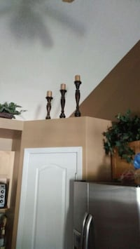 3 large wooden candle holders. Paid $150 at pier 1 Edmonton, T5Y 3B3