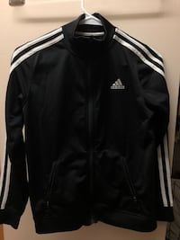 black and white Adidas zip-up jacket Amherst, 01003