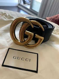 Gucci Belt  Big Buckle  Sz 34  Men  -125-$
