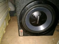 black and gray MTX Audio subwoofer 313 mi