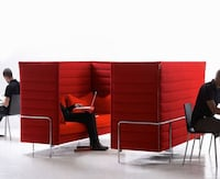 """2 - Vitra """"Alcove"""" 3-seater high walled sofa - Office / startup couches"""