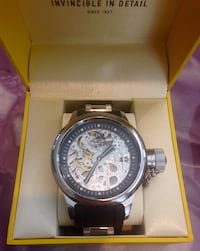 Brand new designer Invicta skeleton watch in box