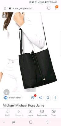 Michael Kors Black Junie Messenger Bag Alexandria