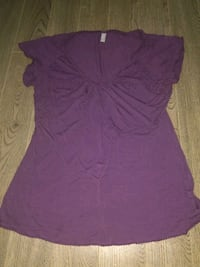 women's purple scoop-neck blouse Regina, S4S