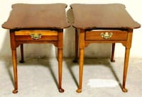 Pair of Lexington Furniture End Tables with Drawer Warrenton
