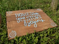 Handpainted/handcrafted wooden Sign Polk, 44866