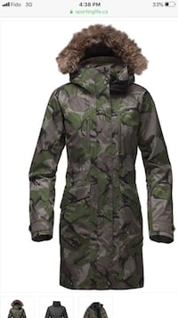green and black camouflage jacket Brampton, L6R 0L2