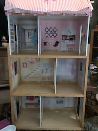 Large Wooden Doll House w/Curtains $40 Palm Bay, 32909