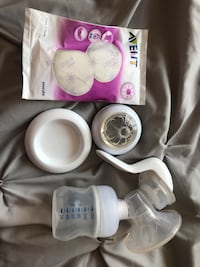 white and pink breast pump set Toronto, M9V 5G7
