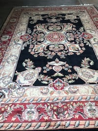 black, white, and red floral area rug Mc Lean, 22102