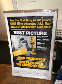 One Flew Over The Cuckoo's Nest Movie poster (lithograph original) New York, 11217