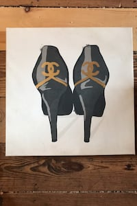 Canvas picture chanel heels