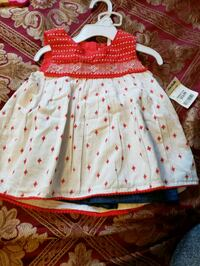 girl's white and red dress North Saint Paul, 55109