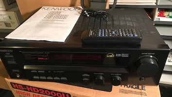 Black kenwood stereo component