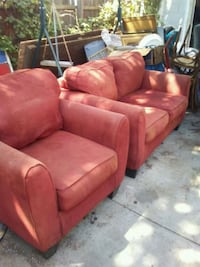 red suede 3-seat sofa Lubbock
