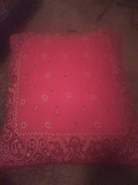 red paisley throw pillows