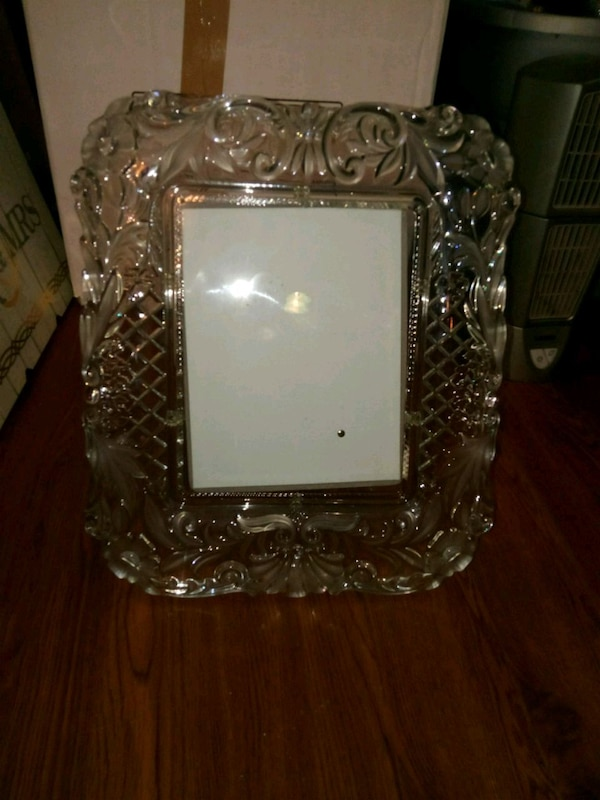 Very heavy glass photo frame