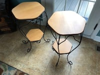 Longenberger wrought iron tables 7 km