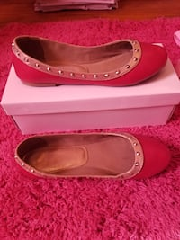 Pink and gold with studs ballerina flats size 8.5 Hudson Falls