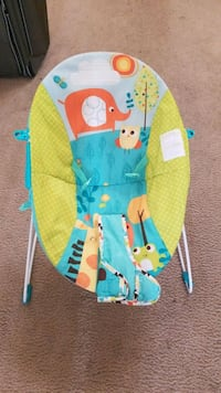 baby's blue and yellow bouncer Gilbert, 85297