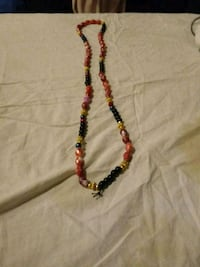 red and black beaded necklace New York, 10035