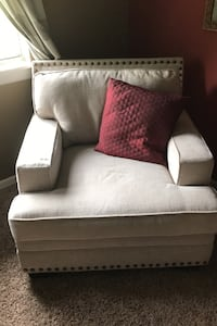 Hammered white chair