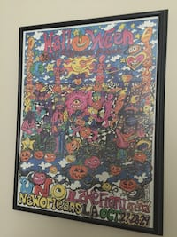 Widespread Panic framed poster art, New Orleans 2000, artist: Campbell Gainesville