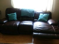 brown leather 3-seat recliner sofa Thornton, 80229