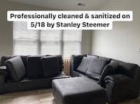 Charcoal Gray Sectional with Ottoman