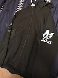 Black and white adidas zip-up jacket Barrie, L4M 6T2