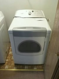 white front-load clothes dryer. Schoolcraft, 49087