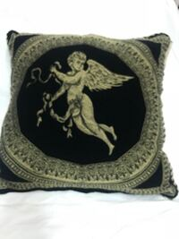 Angel Design Embroided Cushion