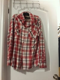 red and white plaid dress shirt for man Ottawa, K1G