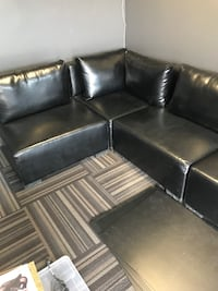 black leather sectional sofa with ottoman Calgary, T3A 5W3