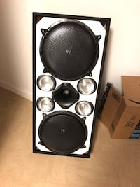 black and gray subwoofer speaker New York, 10460