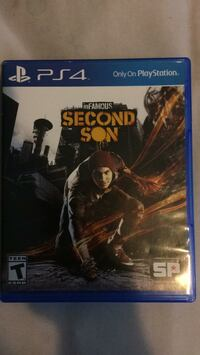 Sony ps4 infamous second son game case