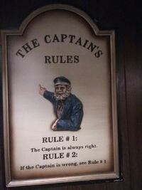 The Captain's Rules poster with frame Loveland, 80537