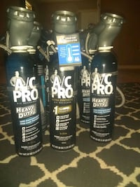 8 cans of A/C pro (package deal 20oz cans)