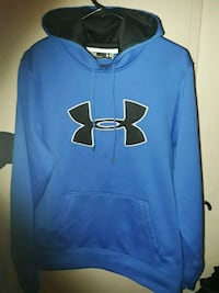 blue Under Armour pullover hoodie Mercedes
