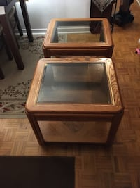 2 Large Wooden End Tables Toronto, M8V 1W1