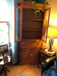 brown wooden cabinet with hutch Elmhurst, 60126