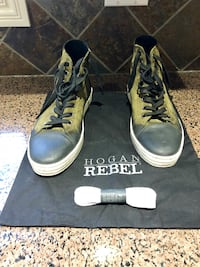 Hogan shoes men's . Green and black , comes with extra laces. Size 10, authentic