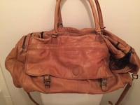 Distress leather bag