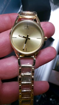 CK 18K GOLD PLATED BRAND WATCH WOMEN NEW