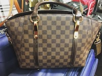 New Damier ebene  leather tote purse