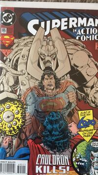 Superman number 695. Metallic embossed cover. Beaverton, 97005